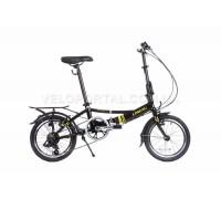 Велосипед складаний Langtu KH017 16˝ чорний/зелений (Black/Green)