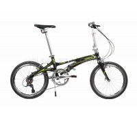 Велосипед складаний Langtu KK029 20˝ чорний/зелений