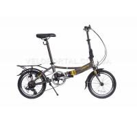 Велосипед складаний Langtu KH017 16˝ матовий сірий/жовтий (Matt Grey/Yellow)