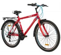 """Велосипед сталь Premier Texas 26 V-brake 18 """"Neon червоний"""
