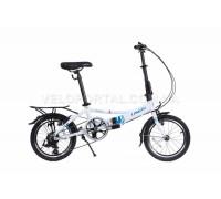 Велосипед складаний Langtu KH017 16˝ білий/блакитний (White//Blue)
