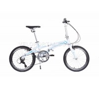 Велосипед складаний Langtu KK029 20˝ білий/блакитний (Pearl White/Blue)