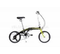 Велосипед складаний Langtu KW017(14) 16˝ чорний/зелений (Black/Green)