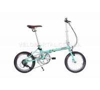 Велосипед складаний Langtu QY018 16˝ бірюзовий (Green)