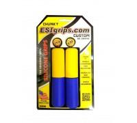 Грипсы ESI Chunky Custom желто-голубые