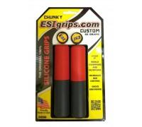 Грипсы ESI Chunky Custom красно-черные