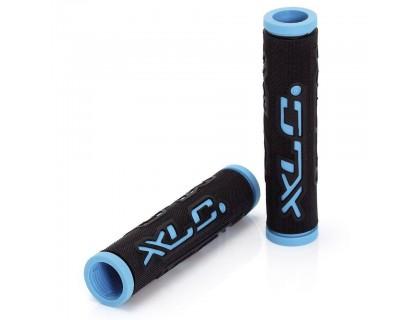 Грипсы XLC GR-G07 'Dual Colour', черно-голубые, 125мм | Veloparts