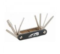 Ключі-мультитул SuperB TB-9625 10 інструментів чорний