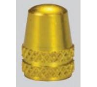 Колпачок на ниппель Alligator (AV / SV - Auto / Schrader) золотистый