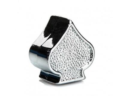 Ковпачок на ніпель ONRIDE Піка (AV/SV - Auto Valve / Schrader Valve) сріблястий | Veloparts