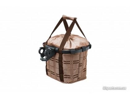 Кошик-сумка KLS Shopper на кермо велосипеда коричневий | Veloparts