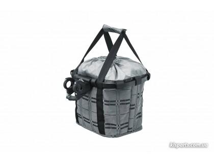 Кошик-сумка KLS Shopper на кермо велосипеда сірий | Veloparts