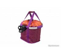 Кошик-сумка KLS Shopper на кермо велосипеда фіолетовий