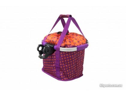 Кошик-сумка KLS Shopper на кермо велосипеда фіолетовий | Veloparts