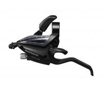 Тормозная ручка / Шифтер (моноблок) Shimano Altus ST-EF500 левая 3 скорости + тросик черный (OEM)