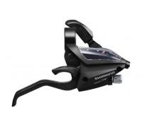 Тормозная ручка / Шифтер (моноблок) Shimano Altus ST-EF500 права 8 скоростей + тросик черный (OEM)