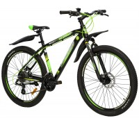 "Велосипед алюміній Premier Tsunami 27 Disc 18 ""Black - Green"