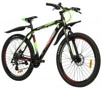 "Велосипед алюминий Premier Tsunami 27 Disc 20"" Black - Green - Red"