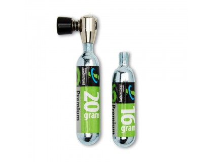 Балон CO2 2 шт(16гр+20гр) +клапан, Genuine Innovation | Veloparts