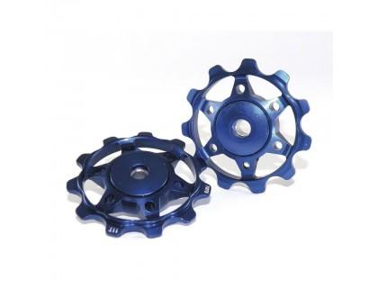 Ролики заднего переключателя XLC, синие | Veloparts