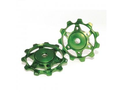 Ролики заднего переключателя XLC, зеленые | Veloparts