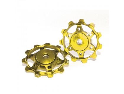 Ролики заднего переключателя XLC, золотые | Veloparts