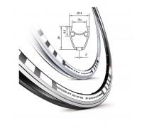 Обод Mach1 ROAD RUNNER 700C 32 отв. чорний, FV/Presta, 500g