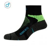 Шкарпетки чоловічі P.A.C. RN 5.1 Running Pro Short Men неоновий зелений 44-47