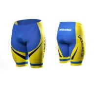 Велотруси чоловічі ONRIDE Ukraine без лямок з памперсом блакитний / жовтий M
