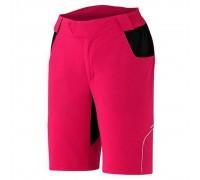 Велошорти жіночі Shimano Touring без памперса рожевий M