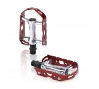 Педали XLC PD-M15, 241 гр, Ultralight, серебристо-красные