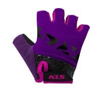 Рукавички короткий палець KLS Lash пурпур S