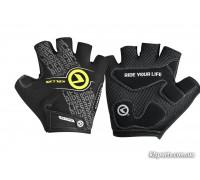 Рукавички KLS Comfort New чорний/лайм S