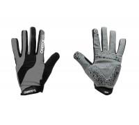Рукавички ONRIDE Long довгі пальці сірий/чорний XL