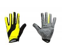 Рукавички ONRIDE Long довгі пальці жовтий/чорний XS