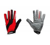 Рукавички ONRIDE Long довгі пальці червоний/чорний S