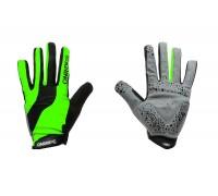 Рукавички ONRIDE Long довгі пальці зелений/чорний S