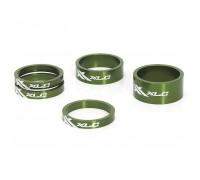 """Проставочні кільця, XLC AS-A02, 1 1/8 """", зелені"""