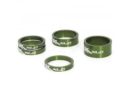 """Проставочные кольца, XLC AS-A02, 1 1/8"""", зеленые   Veloparts"""