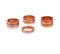 """Проставочні кільця, XLC AS-A02, 1 1/8 """", помаранчеві"""