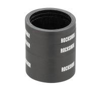 Набір проставочних кілець RockShox UD Carbon (2x2.5мм, 1x5мм, 1x10мм, 1x20мм) глянцевий чорний з лог