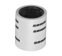 Набір проставочних кілець SRAM UD Carbon (2x2.5мм, 1x5мм, 1x10мм, 1x20мм) глянцевий білий з лого