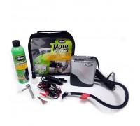 Ремкомплект для мотопокришек MOTO Power Sport (Герметик + повітряний компресор), Slime