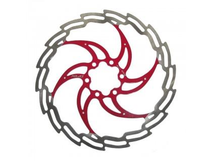 Ротор XLC BR-X02, ø180 мм, серебристо-красный | Veloparts