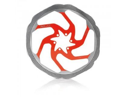 Ротор XLC BR-X58, ø160 мм. серебристо-красный | Veloparts
