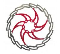 Ротор XLC BR-X02, ø203 мм, серебристо-красный