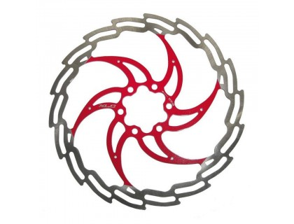 Ротор XLC BR-X02, ø203 мм, серебристо-красный | Veloparts