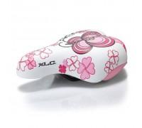 Седло XLC SA-C02, детское, 180x145мм, бело-розовое, 303г
