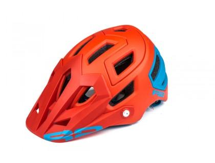 Шолом R2 Trail колір Червоний/Блакитний (матовий) L   Veloparts