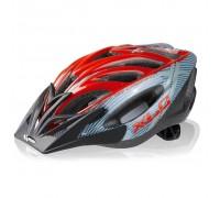 Шлем XLC Mt.Kenia, серо-красный, Uni (52-60)